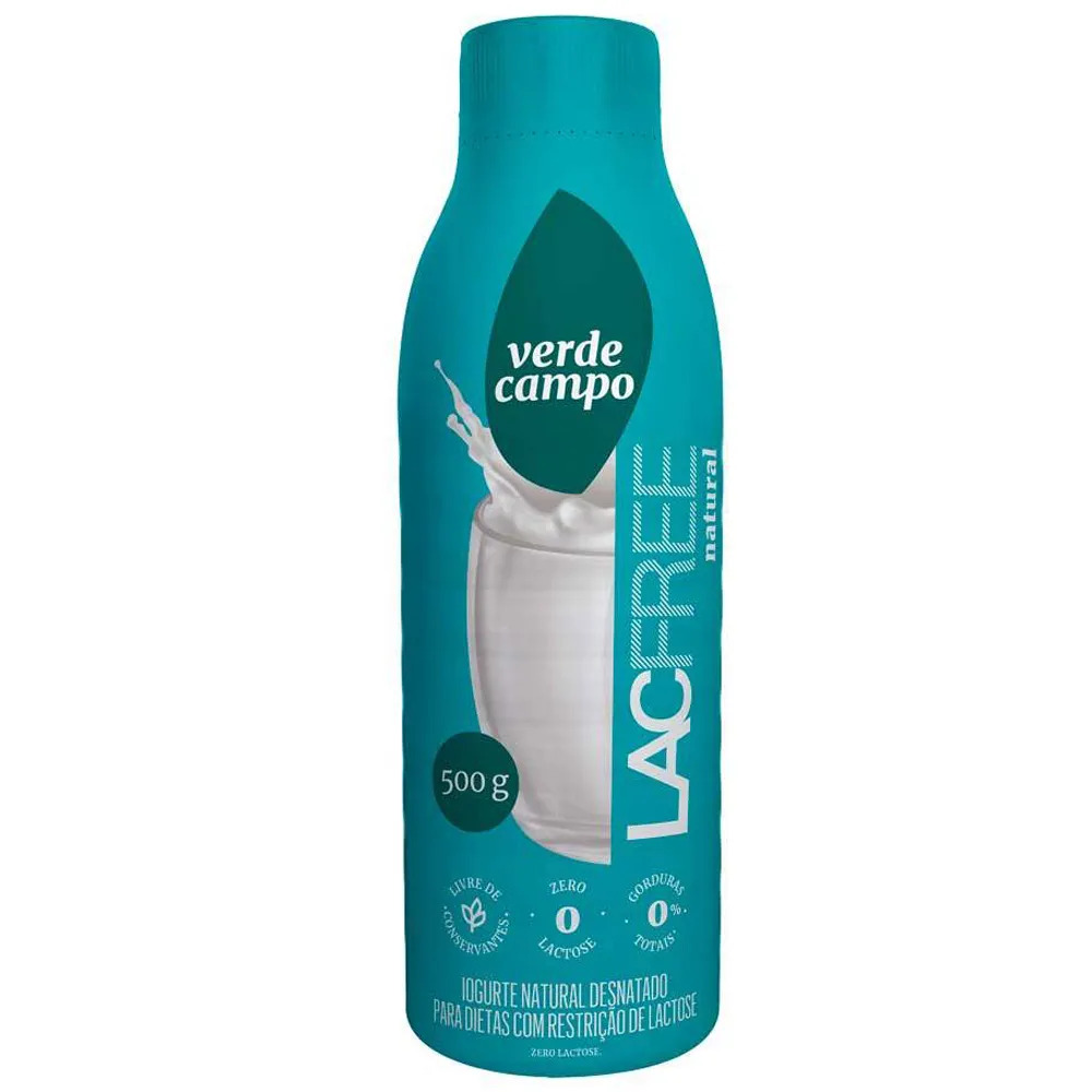 IOGURTE NATURAL LACFREE VERDE CAMPO 500G