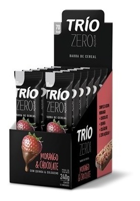 BARRA DE CEREAL TRIO ZERO MORANGO/ CHOCOLATE- 20G