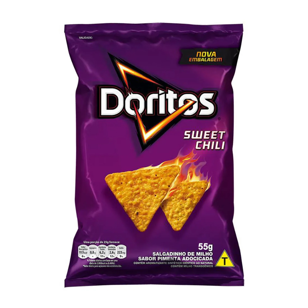 CHIPS DORITOS SABOR SWEET CHILLI - 55g